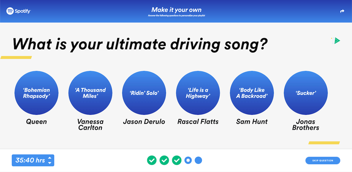 Soundtrack your Ride Spotify What is your ultimate driving song